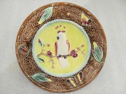 An English Majolica Plate (1 of 6)