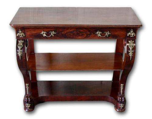 Frech Empire Mahogany Console Table (1 of 4)