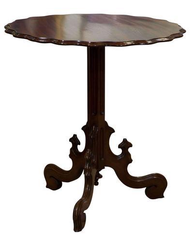 French Scalloped Edge Mahogany Tilt-top Table (1 of 5)