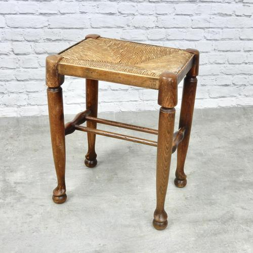 Rush Seated Antique Stool (1 of 4)
