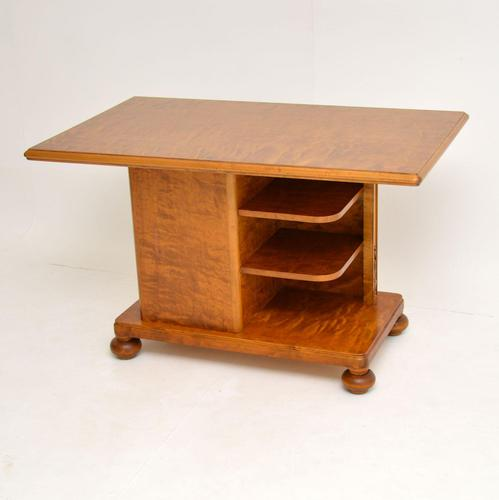 Antique Swedish Satin Birch Coffee / Library Table (1 of 10)