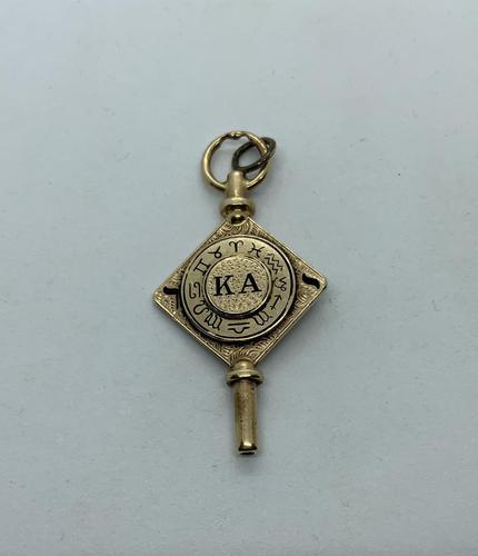 Kappa Alpha Fraternity 14ct Gold Watch Key Fob (1 of 2)
