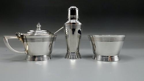 Keith Murray Art Deco Silver Plated Cruet  - Designed for Mappin & Webb (1 of 7)