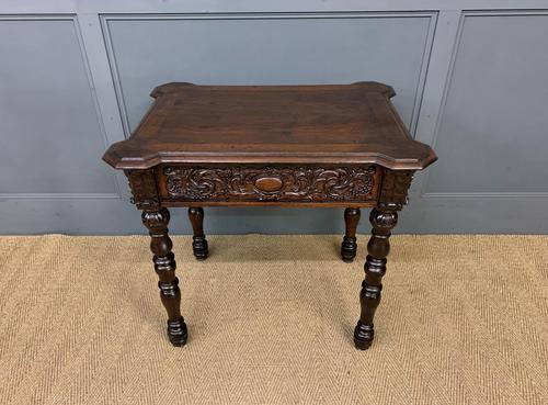 Good 19th Century Carved Oak Table (1 of 15)