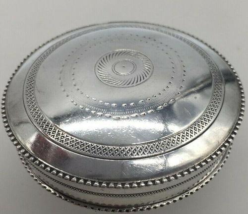 Superb French Silver Pill Trinket Box Early 20th Century Paris Hallmark (1 of 6)