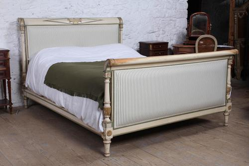Beautiful king size newly upholstered Directoire style bed (1 of 10)