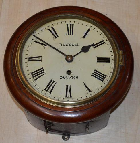 """Rare 8"""" Dial Clock Fusee Russell Dulwich (1 of 4)"""