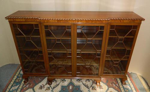 Mahogany Breakfront Bookcase (1 of 6)