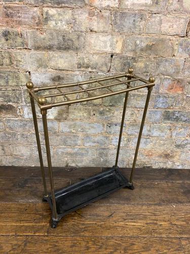 Brass & Steel Umbrella Stand (1 of 5)