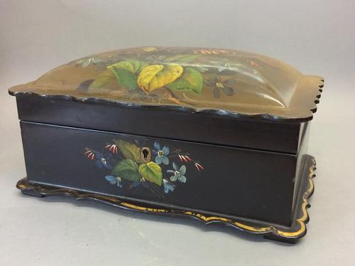 Mid 19th Century Papier-mâché Work Box (1 of 4)