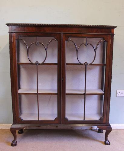 Antique Mahogany Glazed Display Cabinet (1 of 10)