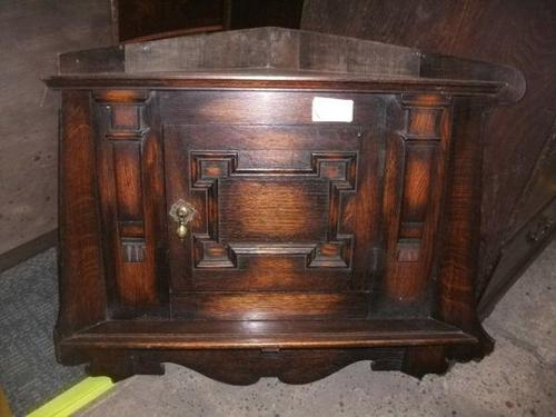 Jacobean Style Wall Hanging Corner Cabinet (1 of 1)