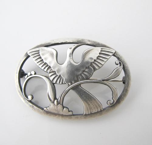 Beautiful Georg Jensen Vintage Silver Arno Malinowski Ibis Design Brooch (1 of 4)
