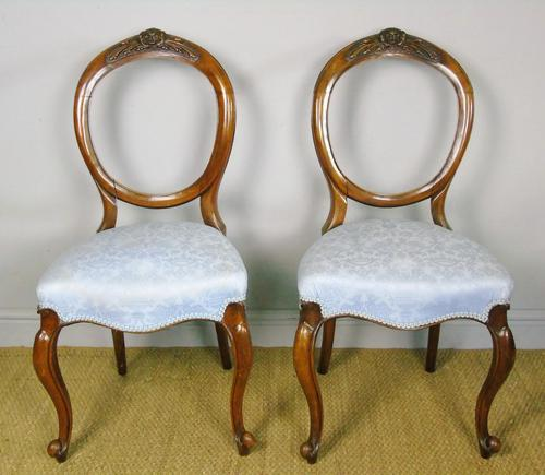 Pretty Pair of Victorian Balloon Back Chairs (1 of 6)