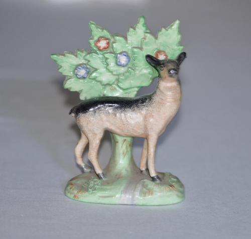 19th Century Staffordshire Model of a Black & Tan Deer (1 of 4)