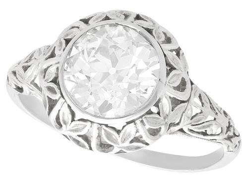 1.70ct Diamond & 18ct White Gold Solitaire Ring c.1910 (1 of 9)