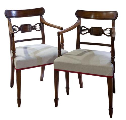 A Pair of Geo III Mahogany Elbow Chairs (1 of 8)