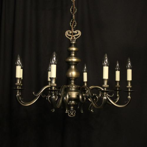 French Silver Plated 8 Light Mid 20th Century Chandelier (1 of 10)