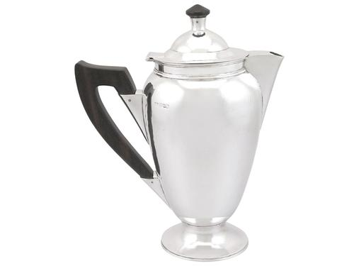 Sterling Silver Coffee Pot - Vintage George VI (1948) (1 of 9)