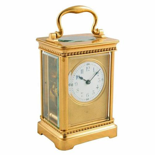 Edwardian French Brass Carriage Clock (1 of 8)