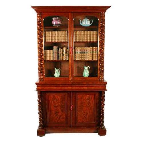 Fine Victorian Mahogany Cabinet Bookcase (1 of 8)