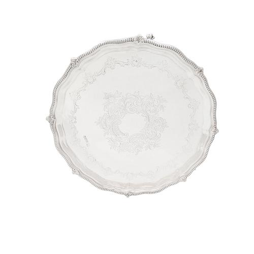 """Antique Sterling Silver 10"""" Tray / Salver 1918 (1 of 10)"""