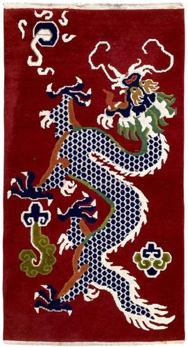Vintage Tibetan Dragon Rug (1 of 8)