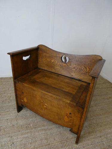 Liberty Arts & Crafts Oak Hall Bench (1 of 11)