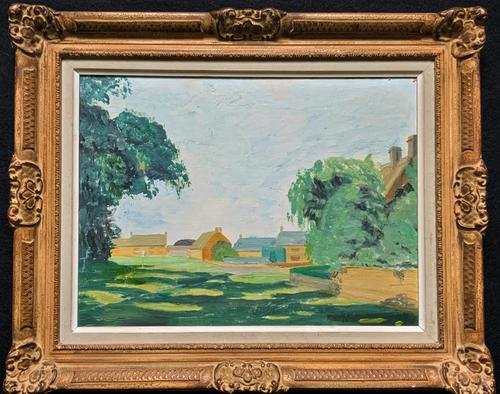 Exquisite Original Early 20th Century Impressionist Farmland Landscape Oil Painting (1 of 12)