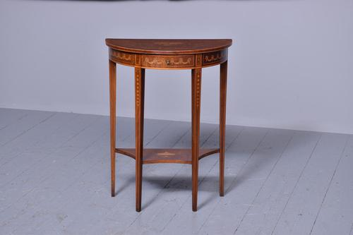 Outstanding Sheraton-style Demi-lune Hall Table (1 of 7)