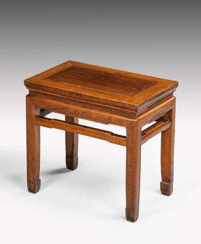 Small Early 20th Century Rectangular End Table (1 of 5)