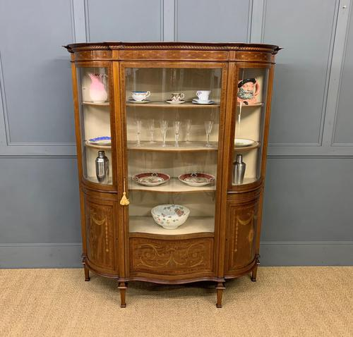 Maple & Co Inlaid Mahogany Display Cabinet (1 of 17)