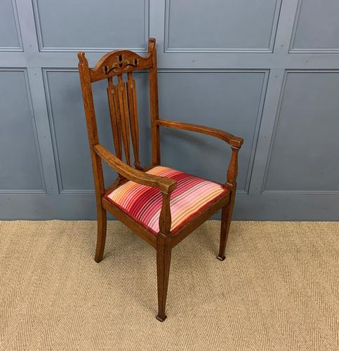 Arts & Crafts Inlaid Armchair (1 of 9)