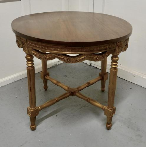Round Gilt Occasional Table (1 of 4)