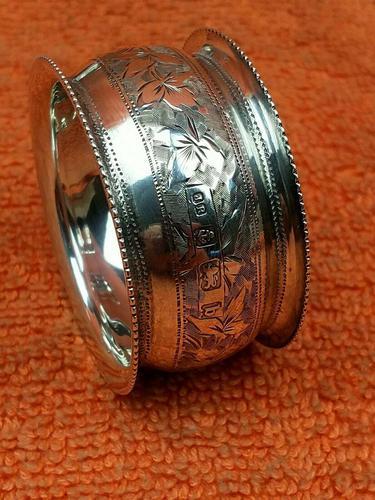 Antique Sterling Silver Hallmarked Napkin Ring 1901 John Rose (1 of 10)