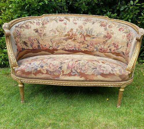 Gilt Needlepoint Sofa (1 of 6)