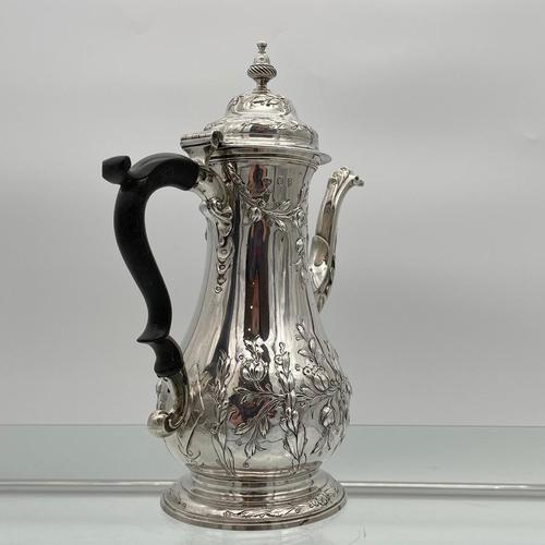18th Century Antique George III Sterling Silver Rococo Coffee Pot London 1765 William & James Priest (1 of 10)