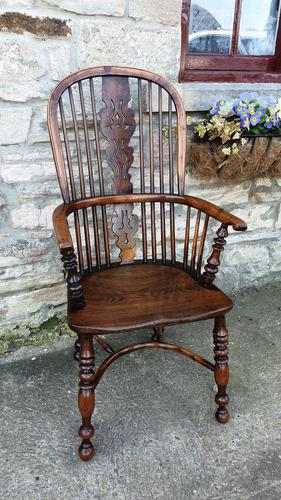 Fine Quality High Back Yew Wood Windsor Chair (1 of 3)