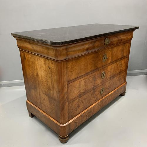 Figured Walnut and Marble Top Commode (1 of 13)