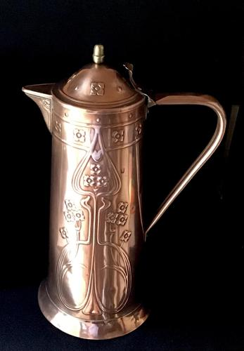 Large Arts & Crafts Copper Repousse Jug (1 of 6)