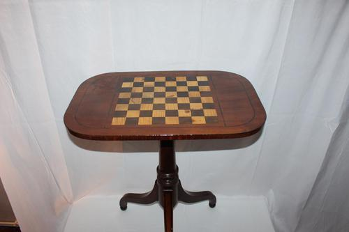 George IV Inlaid Mahogany Chess Table (1 of 13)