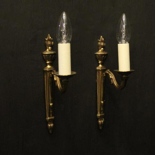 French Pair of Single Arm Antique Wall Lights (1 of 10)