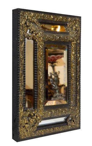 Flemish Cushion Frame Ebonised Mirror (1 of 4)