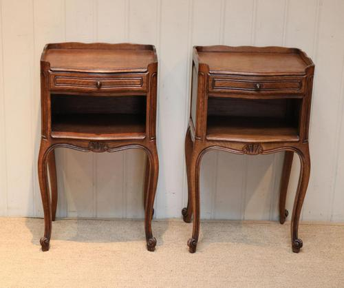 Pair of French Oak Bedside Cabinets (1 of 10)