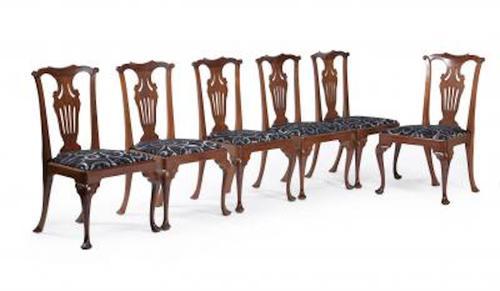 Six Georgian Style  Mahogany Dining Chairs (1 of 9)