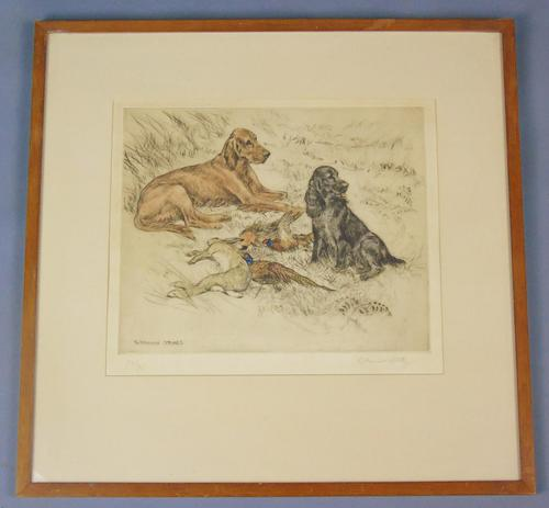 Hunting Dogs Field Spaniels G Vernon Stokes Signed Limited Edition (1 of 6)