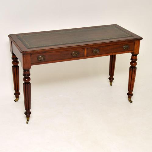Antique William IV Mahogany  Leather Top Writing Table / Desk (1 of 9)