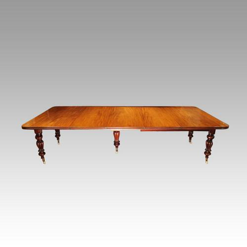 Victorian 12+seat Mahogany Dining Table (1 of 9)