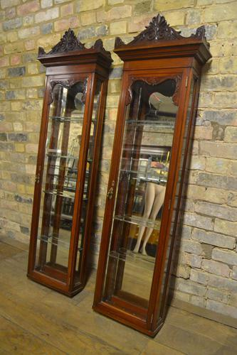 Pair of Victorian Jeweller's Wall Cabinets (1 of 10)
