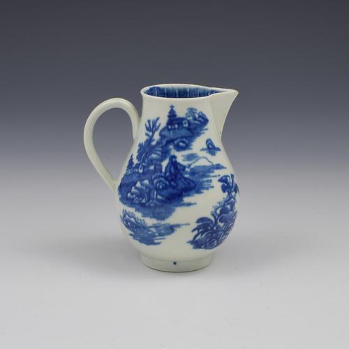 First Period Worcester Porcelain Cream Jug Fisherman Pattern c.1775 (1 of 4)